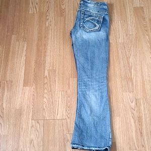 Silver Jeans Tuesday Distressed Bootcut Denim